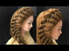 Tuto coiffure pour tous les jours (pour l'école / travail) ❀ Tresse simple et rapide - YouTube