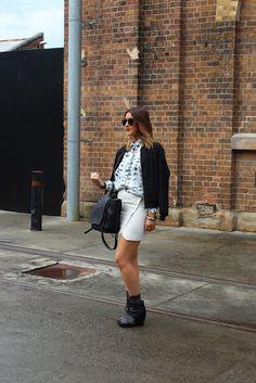 Australian Fashion Week, more street style pics on our blog. #mbfwa