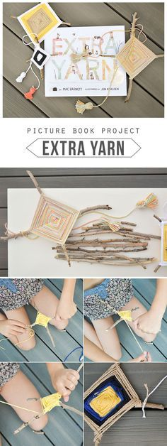 A fun project to compliment the inspiring book, Extra Yarn by Mac Barnett...