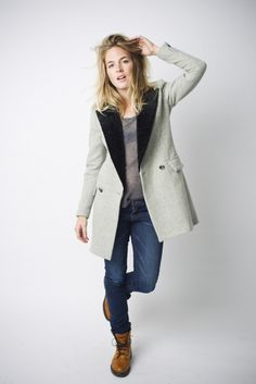 i really could pin the entire #smythe lookbook.    Persian Lamb Coat in Pale Grey/Black