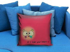 if i take your heart  These soft pillowcase made of 50% cotton, 50% polyester.  It would be perfect to decorate your home by using our super soft pillow cases on sofa, chair, bench or bed.  Customizable pillow case is both comfortable and durable, improving the quality of your sleep with these comfortable pillow case, take it home now!  Custom Zippered Pillow Cases available in 7 different size (16″x16″, 18″x18″, 20″x20″, 16″x24″, 20″x26″, 20″x30″, 20″x36″)