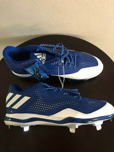 493832e28 Details about Adidas Likestrike Cleats Size 14 White with Royal Blue New W O  box