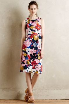 WHIT Two Petalprint Cross-Back Dress #anthrofave