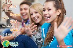 Te presentamos la palabra #Hola escrita en diferentes idiomas que muy seguramente te será de utilidad cuando realices tus estudios en el extranjero. Recuerda en #EnjoyLanguages te asesoramos para que tu viaje de estudios en el extranjero sea inolvidable. Solicita información sin compromiso: 01 800 5042073 #EnjoyLanguages #Travel #Explore #EstudiaenelExtranjero