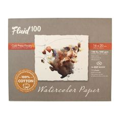 Get the Fluid™ 100 Cold Press Watercolor Paper Block, 140lb. at Michaels. This block features premium watercolor paper glued on two edges so that you can paint directly on the top sheet without taping or sizing. This block features premium watercolor paper glued on two edges so that you can paint directly on the top sheet without taping or sizing. When your painting is dry, simply slide a dull knife or letter opener under the top sheet to release the glue and pull your painting free. Details:Ava Paper Glue, Global Art, Watercolor Paper, Cold, Lettering, Press Release, Cotton, Painting, Ava