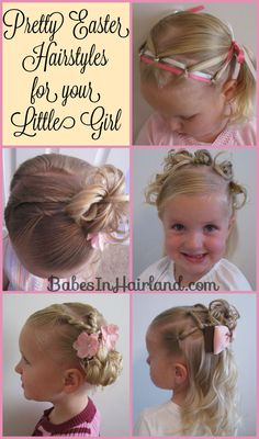 Easter hairstyles from BabesInHairland.com #hairstyles #tutorials #littlegirls