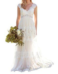 O.D.W langes vintage Brautkleid, gehört eher zu den vintage Hochzeitskleidern für Scheunenhochzeiten