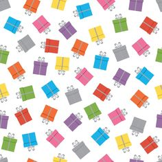 FREE DOWNLOAD – Seamless pattern design with presents. #birthday #present #gift #wrapping #wrappingpaper #dawanda #etsy #seamless #seamlesspattern #pattern #illustrator #handdraw #scratch #party