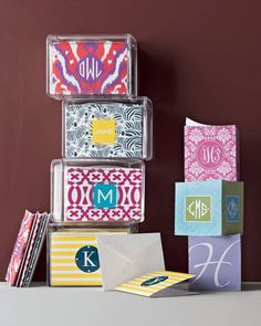 Personalized Memo Cubes & stationery boxes from Neiman Marcus #DabneyLee #stationery