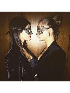 Prettiest Instagrams of the Week: Kendall Jenner and Cara Delevingne wearing masquerade masks | allure.com
