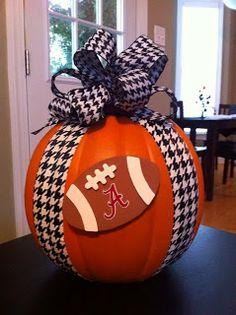 Pumpkin football decor