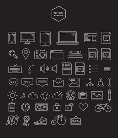 Free 60 unique outlines icons by Lubos Volkov.