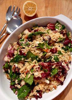 Orzo and Radicchio Salad