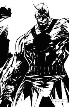Giantman by johnnymorbius on DeviantArt Henry Pym, Comic Books Art, Book Art, Marvel Comics, Spiderman, Avengers, Deviantart, Superhero, Black And White