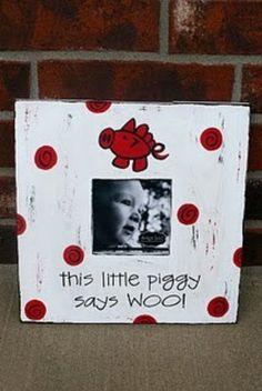 Cute for little @Jack Pate Razorbacks fans! #WPS #razorbacks #decor