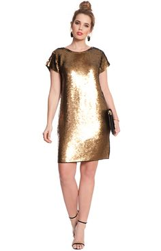 dd716e85fc9 Eloquii Studio Sequin Party Dress Plus Size  plussize  plussizedresses  Sequin Outfit