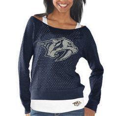 G-III 4Her Nashville Predators Ladies Holy Sweatshirt & Tank Set - Navy Blue