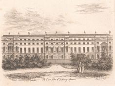 James Peller Malcolm, 1767-1815, The East Side of Fitzroy Square, 1807, , Yale Center for British Art, Paul Mellon Collection
