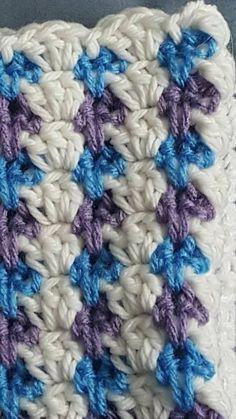 Sensational Benefiting From Beginners Crochet Ideas. Awesome Benefiting From Beginners Crochet Ideas. Baby Afghan Crochet Patterns, Crochet Borders, Crochet Stitches, Crochet Afghans, Baby Afghans, Crochet Blankets, All Free Crochet, Crochet Bebe, Unique Crochet