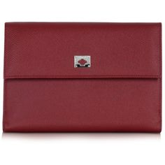 Pineider City Chic Burgundy Leather French Purse Wallet ($448) ❤ liked on Polyvore featuring bags, wallets, clutches, handbags, burgundy, genuine leather wallet, genuine leather bags, snap closure wallet, leather snap wallet and flap wallet