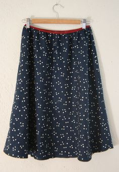 This simple, gorgeous a-line skirt is a five-minute project... just whip up a pattern from your measurements and go!