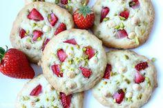 Rezepte mit Herz   ♥: Erdbeer - Pistazien - Cookies