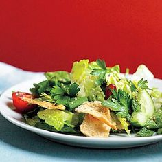 Pita Recipes, Side Salad Recipes, Cooking Recipes, Martha Stewart Recipes, Eating Light, Raw Vegetables, Veggies, Heart Healthy Recipes, Dessert For Dinner