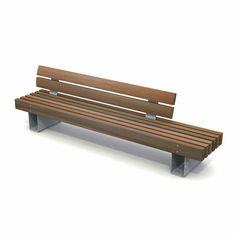 stoere zitbank voor openbare ruimte met hoge rugleuning