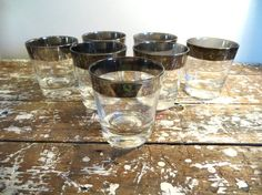Glasses Vintage Barware Cocktail Glasses by VintageShoppingSpree, $40.00  This is how it all started for me!!!