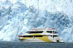 millennial ice of the Glacier in Laguna San Rafael