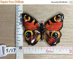 20 percent off 3 day sale Vintage Tin Litho Print Butterfly Pin Brooch Japan Used by HeetersHaven on Etsy https://www.etsy.com/listing/529408707/20-percent-off-3-day-sale-vintage-tin