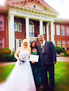 Mr. and Mrs Warden tied the knot at the High School where they first met... 30 yrs ago.