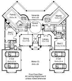 Interesting shapes - redoing it in my head though. House Plan 98277 at FamilyHomePlans.com