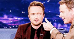 And when Bryan pinched Aaron's cheek! | 23 Times Bryan Cranston And Aaron Paul Blessed The World In 2013
