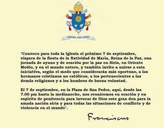 Anuncio  del Papa