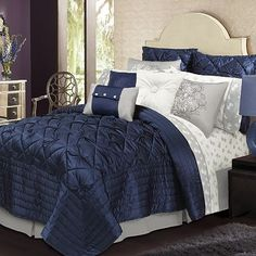 1000 Ideas About Royal Blue Bedding On Pinterest