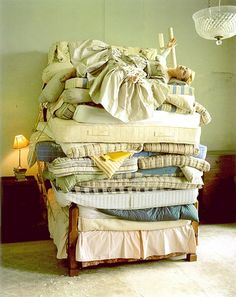 Ah yes, the princess and the pea syndrome. I used to think I was the only one that had this--feeling every wrinkle, every crumb, even the weight of the blankets can be too much