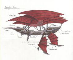 Fantasy Concept Art, Fantasy Rpg, Fantasy Artwork, Fantasy World, Steampunk Ship, Arte Steampunk, Flying Ship, Flying Boat, Treasure Planet