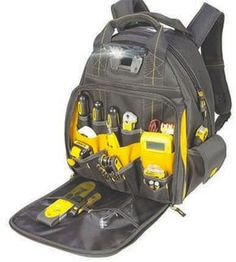 Dewalt has come out with a new LED-lighted tool backpack.