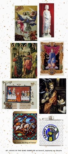 St. Louis IX the King Sampler at Saints_Aplenty on Zazzle -- You can find many styles of religious art on Zazzle.  Zazzlers include contemporary artists producing original art as well as fine arts specialists like the Bridgeman Art Library producing reproductions of Old Masters.  Browse Our St. Louis IX the King Sampler for an introduction to products featuring the saint!