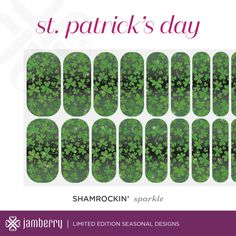 Check out Jamberry's SHAMROCKIN' St. Patrick's Day nail wraps!! Available January 5–April 15, 2016