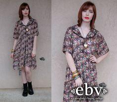 #Vintage #90s #Sheer #Floral #Mini #Dress L XL by shopEBV http://etsy.me/11xx2v6 via @Etsy #etsy #shopEBV #fashion #style #shopEBV by shopEBV on Etsy, $36.00