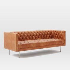 Modern Chesterfield Leather Sofa | west elm