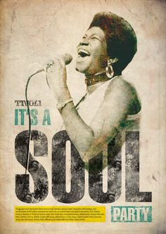 Texture and simple interactive details, (notice cord  elbow) make this a really great poster. -  Made a nice soul poster for Tivoli.