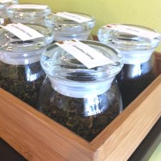 Such a cute way to store loose teas! Love this little tea shop