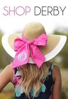 Looking for a cute monogram derby hat? Browse through our variety of different colors and styles to find the perfect monogram hat! Kentucky Derby Dress, Kentucky Derby Fashion, Derby Attire, Derby Outfits, Pink Outfits, Monogram Hats, Run For The Roses, Derby Day, Fancy Hats