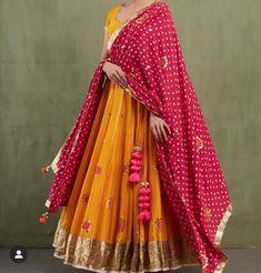Buy Yellow Thread Work Georgette Party Wear Lehenga Choli with Pink Dupatta - Lehenga Choli for Women from Ethnic Plus at Discount✓Cash On Delivery✓Free Return✓International Shipping. Ghagra Choli, Bridal Lehenga Choli, Indian Lehenga, Lehenga Saree, Silk Dupatta, Jacket Lehenga, Chiffon Saree, Pakistani, Indian Designer Outfits
