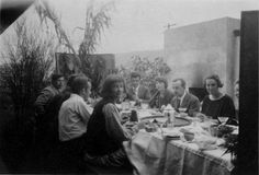 Thanksgiving at the Schindler House, 1924 Courtesy of Architecture and Design Collection, Art Design & Architecture Museum, UC Santa Barbara.