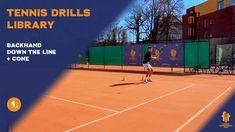 Top tennis drills: Backhand Cross court Down the line MIX Tennis Videos, Drills, Line, Improve Yourself, Basketball Court, Top, Flat, Bass, Fishing Line