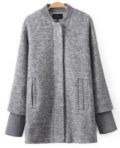 Shop Grey Crew Collar Raglan Sleeve Longline Coat online. Sheinside offers Grey Crew Collar Raglan Sleeve Longline Coat & more to fit your fashionable needs. Free Shipping Worldwide!